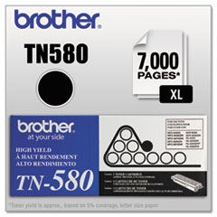 BRTTN580 - Brother TN580 High-Yield Toner, 7000 Page-Yield, Black
