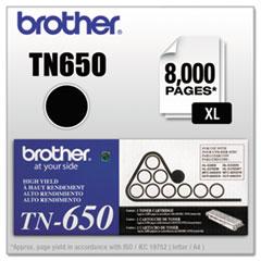 BRTTN650 - Brother TN650 High-Yield Toner, 8000 Page-Yield, Black