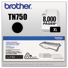 BRTTN750 - Brother TN750 (TN-750) High-Yield Toner, 8000 Page-Yield, Black
