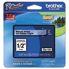 BRTTZE131 - Brother® P-Touch® TZ/TZe Series Standard Adhesive Laminated Labeling Tape