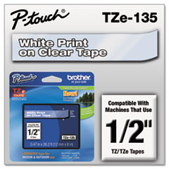 BRTTZE135 - Brother® P-Touch® TZ/TZe Series Standard Adhesive Laminated Labeling Tape