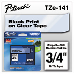 BRTTZE141 - Brother® P-Touch® TZ/TZe Series Standard Adhesive Laminated Labeling Tape