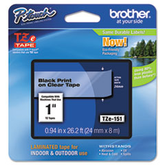 BRTTZE151 - Brother® P-Touch® TZ/TZe Series Standard Adhesive Laminated Labeling Tape