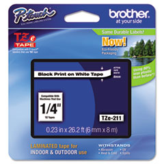 BRTTZE211 - Brother® P-Touch® TZ/TZe Series Standard Adhesive Laminated Labeling Tape