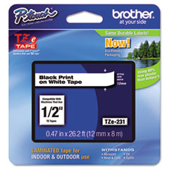 BRTTZE231 - Brother® P-Touch® TZ/TZe Series Standard Adhesive Laminated Labeling Tape