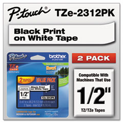 BRTTZE2312PK - Brother® P-Touch® TZ/TZe Series Standard Adhesive Laminated Labeling Tape
