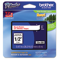 BRTTZE232 - Brother® P-Touch® TZ/TZe Series Standard Adhesive Laminated Labeling Tape