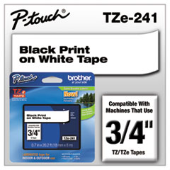 BRTTZE241 - Brother® P-Touch® TZ/TZe Series Standard Adhesive Laminated Labeling Tape