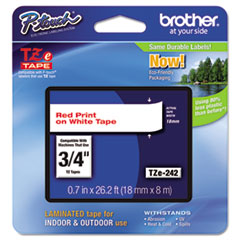 BRTTZE242 - Brother® P-Touch® TZ/TZe Series Standard Adhesive Laminated Labeling Tape
