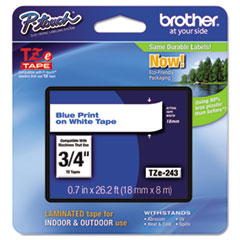 BRTTZE243 - Brother® P-Touch® TZ/TZe Series Standard Adhesive Laminated Labeling Tape