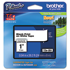 BRTTZE251 - Brother® P-Touch® TZ/TZe Series Standard Adhesive Laminated Labeling Tape