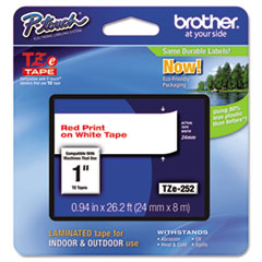 BRTTZE252 - Brother® P-Touch® TZ/TZe Series Standard Adhesive Laminated Labeling Tape