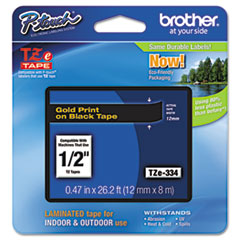 BRTTZE334 - Brother® P-Touch® TZ/TZe Series Standard Adhesive Laminated Labeling Tape