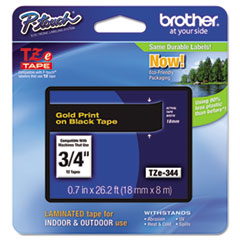 BRTTZE344 - Brother® P-Touch® TZ/TZe Series Standard Adhesive Laminated Labeling Tape