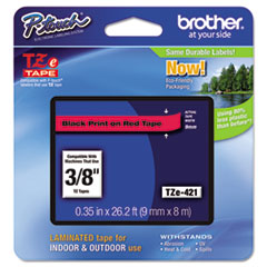 BRTTZE421 - Brother® P-Touch® TZ/TZe Series Standard Adhesive Laminated Labeling Tape