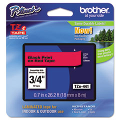 BRTTZE441 - Brother® P-Touch® TZ/TZe Series Standard Adhesive Laminated Labeling Tape