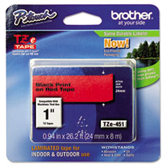 BRTTZE451 - Brother® P-Touch® TZ/TZe Series Standard Adhesive Laminated Labeling Tape