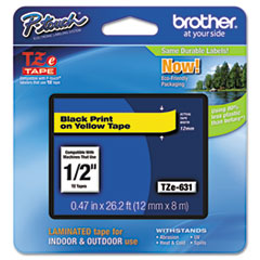 BRTTZE631 - Brother® P-Touch® TZ/TZe Series Standard Adhesive Laminated Labeling Tape