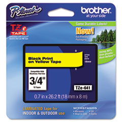 BRTTZE641 - Brother® P-Touch® TZ/TZe Series Standard Adhesive Laminated Labeling Tape