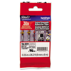 BRTTZES221 - Brother® P-Touch® TZ/TZe Series Extra-Strength Adhesive Laminated Labeling Tape