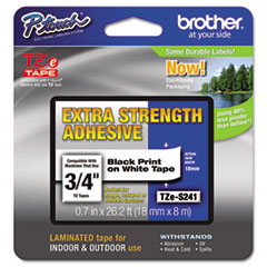 BRTTZES241 - Brother® P-Touch® TZ/TZe Series Extra-Strength Adhesive Laminated Labeling Tape