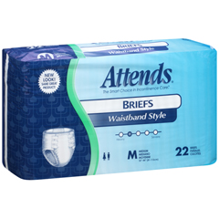 MON10243101 - AttendsIncontinent Brief Attends Tab Closure Medium Disposable Heavy Absorbency