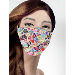 BSC121586 - Pol Atteu - Designer 90210 Face Mask Tea Party Patchwork Lady Collection