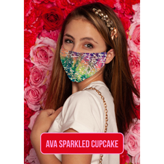 BSC128635 - Pol Atteu - Ava Designer 90210 Face Mask Sparkled Cupcake Lady Collection
