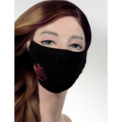 BSC238055 - Pol Atteu - Designer 90210 Face Mask My Lips are Sealed Lady Collection