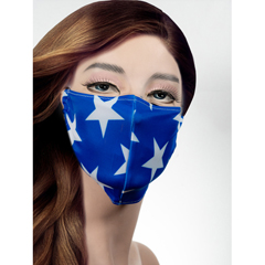 BSC312182 - Pol Atteu - Designer 90210 Face Mask American Blue Lady Collection
