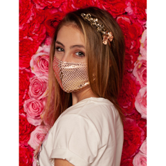 BSC340163 - Pol Atteu - Ava Designer 90210 Face Mask Shimmery Snake Lady Collection