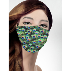 BSC490964 - Pol Atteu - Designer 90210 Face Mask Peacock Flock Lady Collection