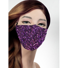 BSC544780 - Pol Atteu - Designer 90210 Face Mask Fantasia Plum Lady Collection