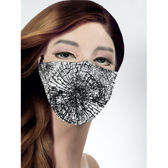 BSC554363 - Pol Atteu - Designer 90210 Face Mask Shattered Web Lady Collection