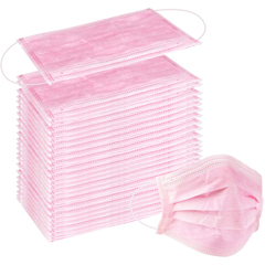BSC314075 - Detoxiz - 3-ply Ear Loop Disposable Pink Masks - 300 Masks