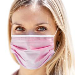 BSC514362 - Detoxiz - 3-ply Ear Loop Disposable Pink Masks - 150 Masks