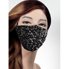 BSC733642 - Pol Atteu - Designer 90210 Face Mask Black Knight Lady Collection
