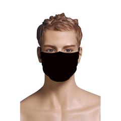 BSC749171 - Pol Atteu - Designer 90210 Face Mask Sky Black Mens Collection