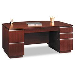 BSH50DBF72A1CS - Bush® Milano Collection Bow Front Double Pedestal Desk