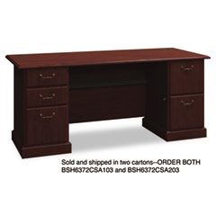 BSH6372CSA103 - Bush® Syndicate Collection Double Pedestal Desk