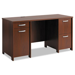 BSHPR76560A1 - Office Connect by Bush Furniture Envoy Series Double Pedestal Desk