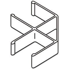 BSXQC90GY - Basyx® Versé™ QuickConnect 90° Panel Connectors