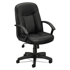 BSXVL601SB11 - basyx® VL601 Series Executive High-Back Leather Chair