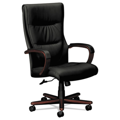 BSXVL844NSB11 - basyx® VL844 Leather High-Back Chair