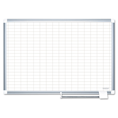 BVCCR0630830 - MasterVision® Grid Platinum Plus Dry Erase Board