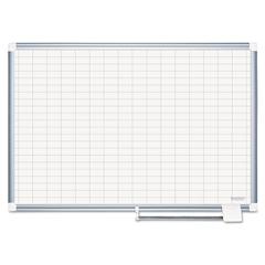 BVCCR0830830 - MasterVision® Grid Platinum Plus Dry Erase Board