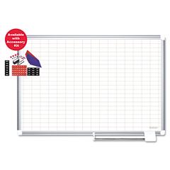 BVCCR0830830A - MasterVision® Grid Platinum Plus Dry Erase Board