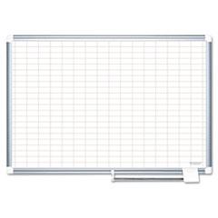 BVCCR1230830 - MasterVision® Grid Platinum Plus Dry Erase Board
