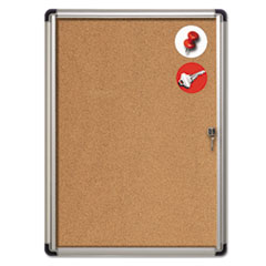 BVCVT630101690 - MasterVision® Slim-Line Enclosed Cork Bulletin Board