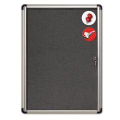 BVCVT630103690 - MasterVision® Slim-Line Enclosed Fabric Bulletin Board